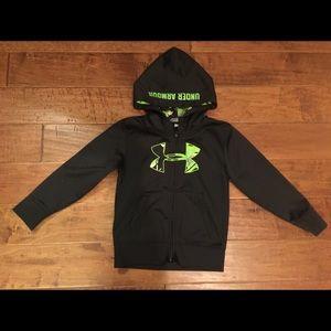 Youth UNDER ARMOUR Black Hoodie Jacket full zip 6